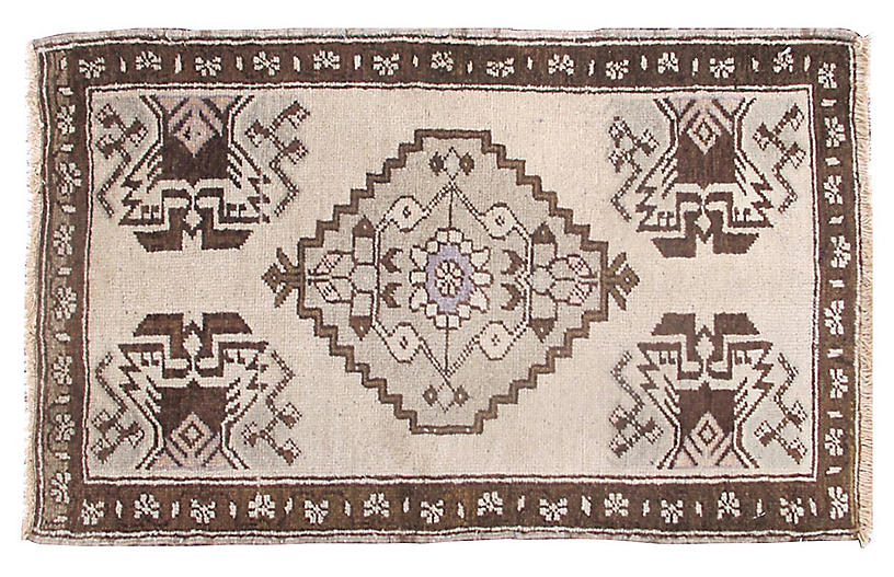 Turkish Oushak Rug, 1'6