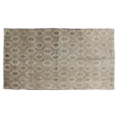 """Taupe & Gray Turkish Rug, 4'3"""" x 7'10"""""""