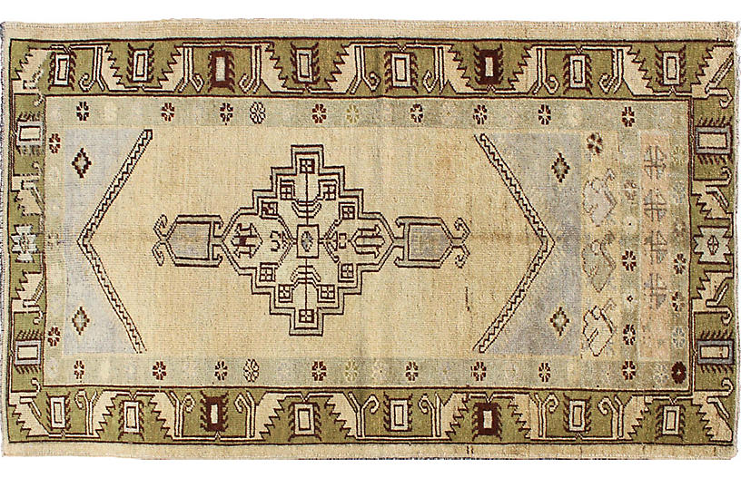 Vintage Turkish Oushak Rug, 3'5