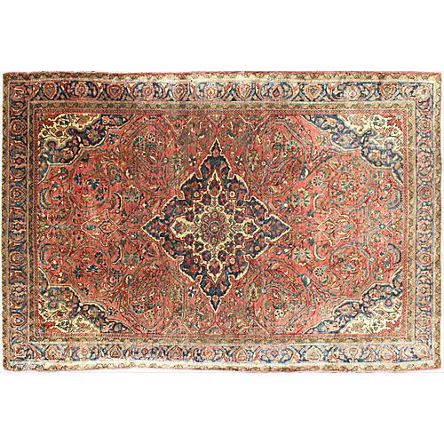 "Antique Persian Farahan Rug, 4'4"" x 6'7"""