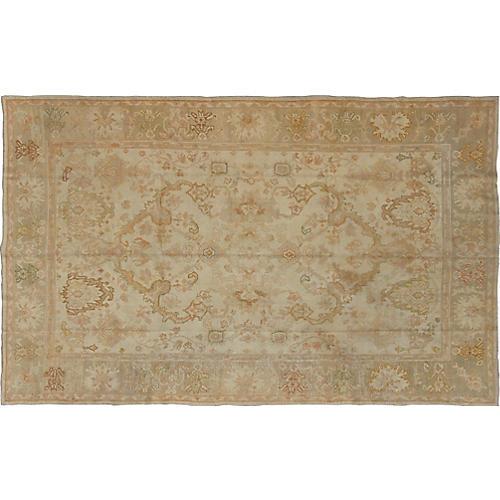 """Antique Oushak Carpet, 8'3"""" x 12'10"""""""