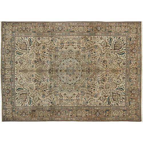 """Persian Tabriz Rug, 8' x 11'2"""""""