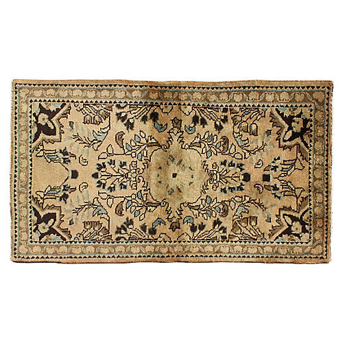 "Vintage Persian Lilihan Rug, 2'5"" x 4'3"""