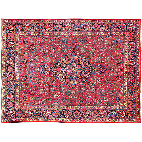 "Persian Mashad Carpet, 9'10"" x 12'10"""