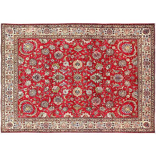 "Persian Tabriz Carpet, 9'6"" x 13'1"""
