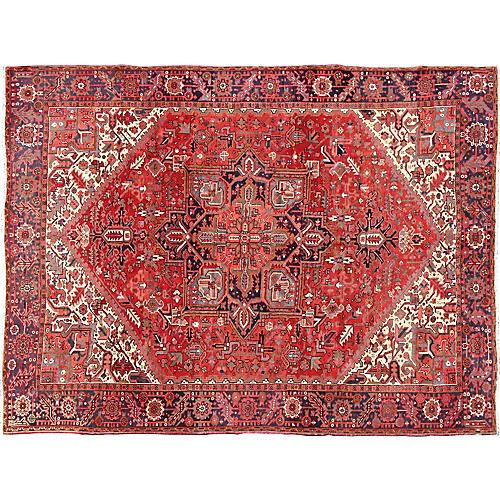 "Persian Heriz Carpet, 9'9"" x 12'8"""