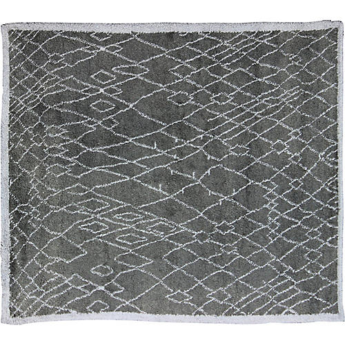"""Moroccan-Style Rug, 8'9"""" x 9'7"""""""