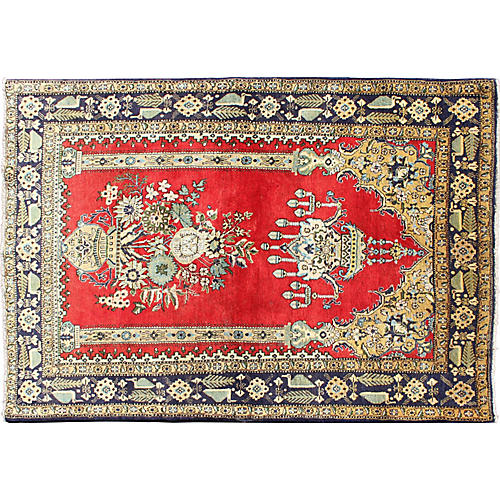 """Persian Qum Rug, 3'6"""" x 5'4"""""""