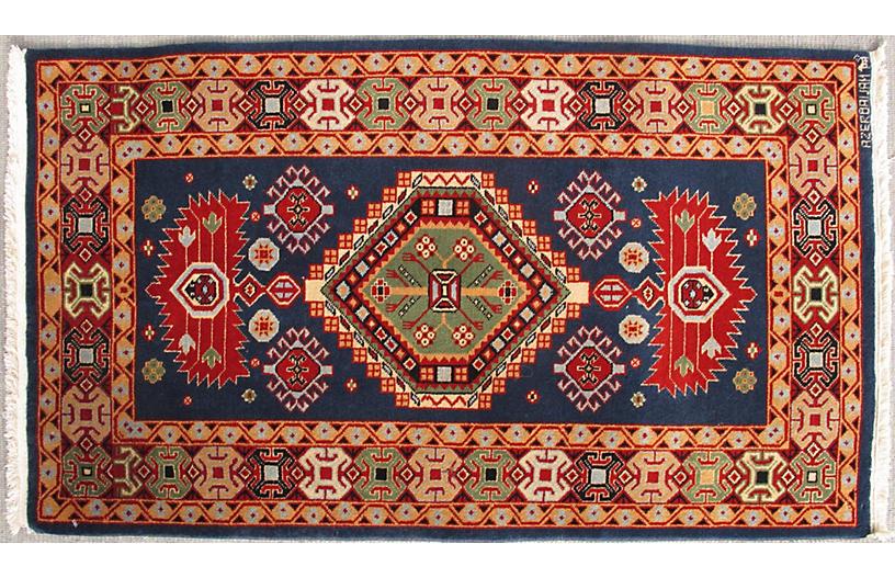 Vintage Caucasian Rug, 2'1 x 4'