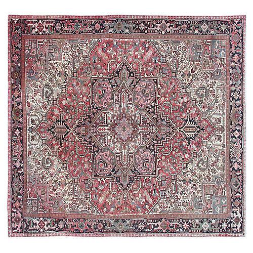 "Persian Heriz Carpet, 9'2"" x 10'3"""