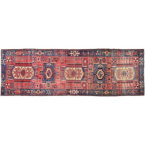 Vintage Persian Karadjeh Runner,3'3x10'2