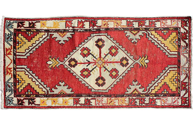 Turkish Oushak Rug, 2'7