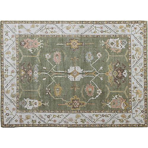 """Oushak Carpet, 10'4"""" x 13'8"""""""