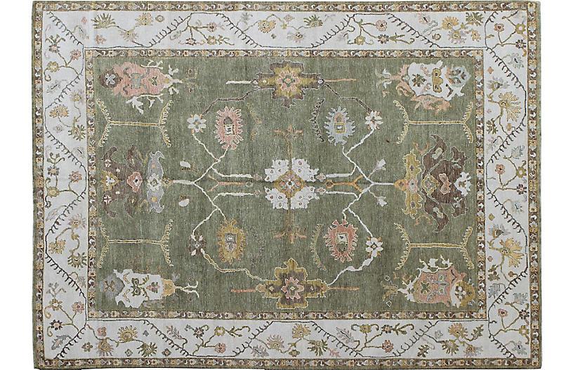 Oushak Carpet, 10'4