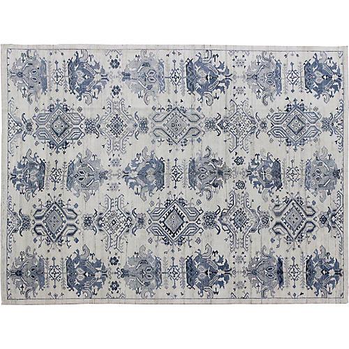 """Oushak Carpet, 10'6"""" x 13'9"""""""