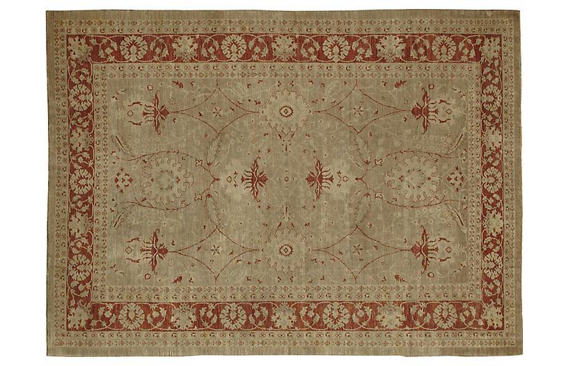 Vintage Sultanabad Carpet, 10' x 13'9