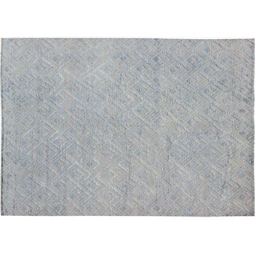 Light Blue Moroccan Rug, 10' x 14'