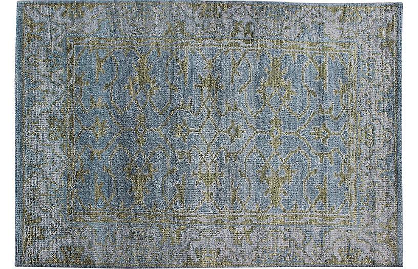 Gray Oushak Rug, 4' x 6'