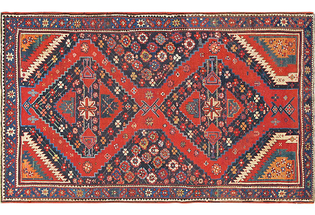 Antique Caucasian Karabagh, 4'6
