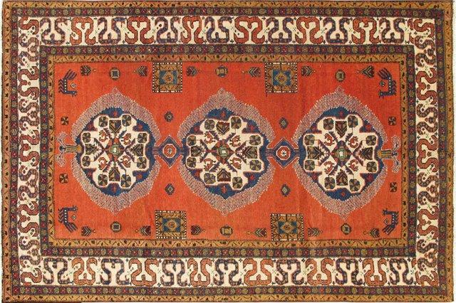 """Antique Persian Ardabil, 7'3"""" x 10'8"""""""