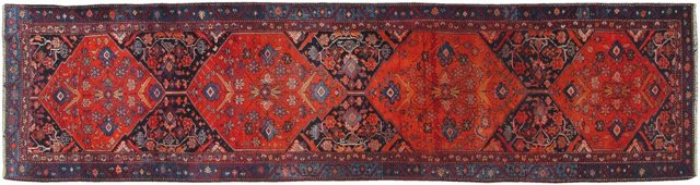 "Antique Persian Malayer, 3'1"" x 12'8"""