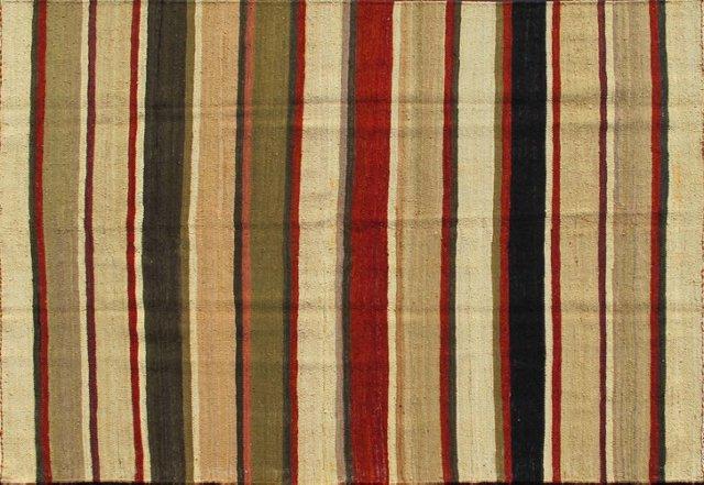 "Vintage Striped Kilim, 5'1"" x 6'10"""