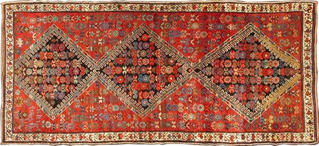 "Antique Caucasian Karabagh, 3'9"" x 8'10"""