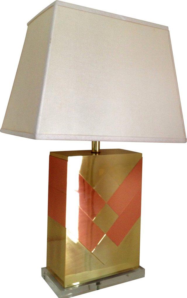 Midcentury Chevron Lamp