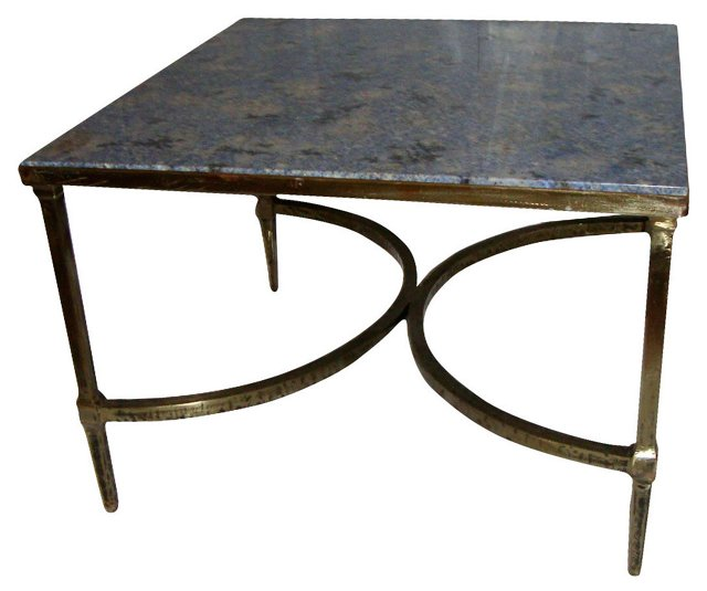 Brass & Granite Coffee Table