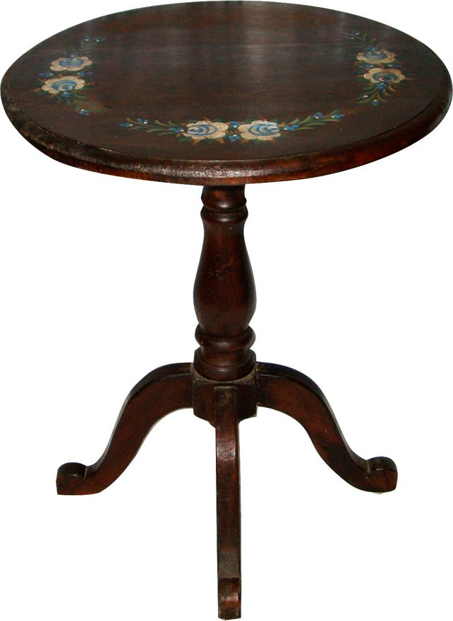 Hand-Painted Occasional Table