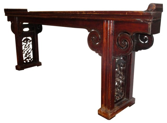 18th-C. Chinese Elm Altar Table