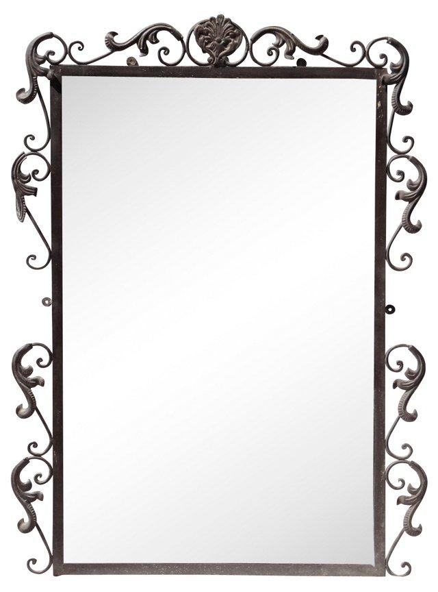 Wrought Iron Beveled Mirror