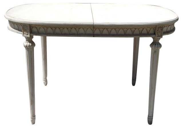 Gustavian-Style Oval Dining Table