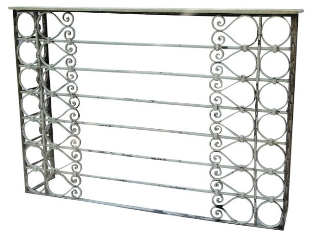 Charleston Iron Console Table
