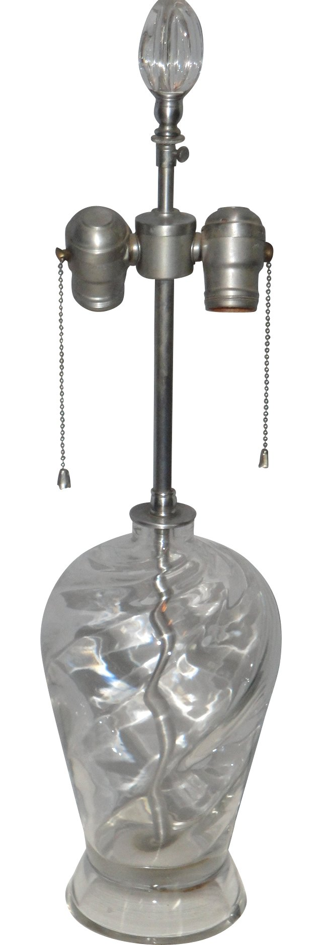Brushed Nickel & Glass Lamp