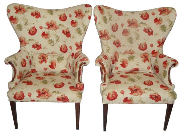 1940s Fireside Chairs, Pair