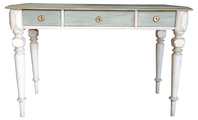 Gustavian Silver & Sage  Desk