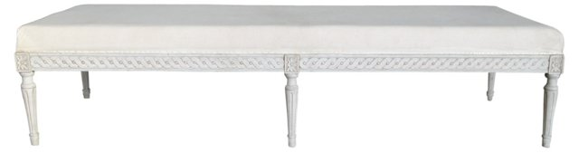 Scrolled Gustavian-Style  Bench