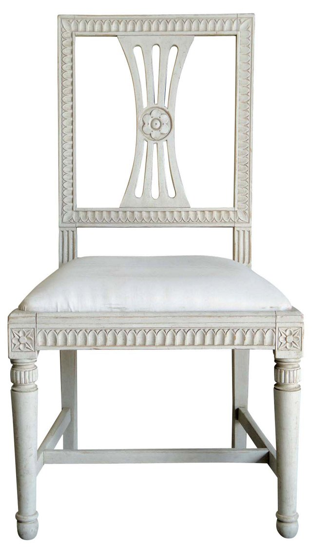 Gustavian-Style  Side Chair
