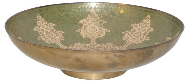 Moroccan Brass Bowl