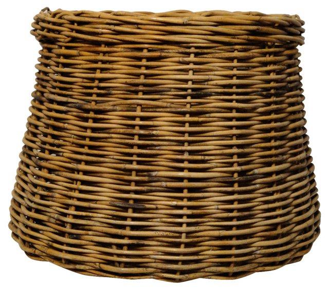 Willow Drum-Shaped Basket