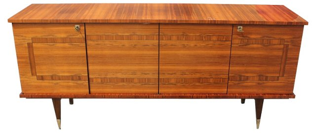 French Art Deco Walnut    Sideboard