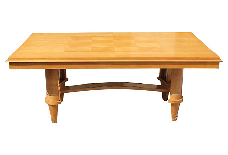 French Art Deco Sycamore Dining Table