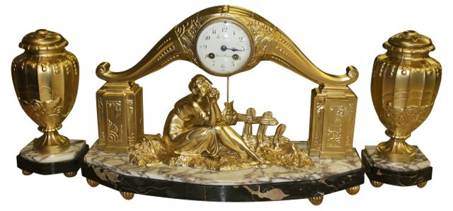 French Art Deco Clock by Limousin