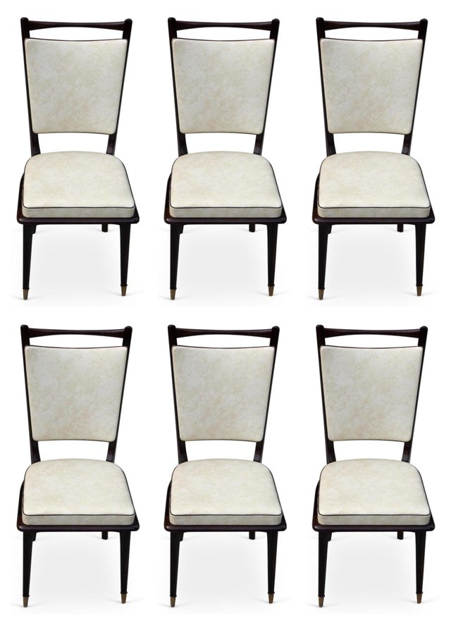 French Walnut Dining   Chairs, S/6