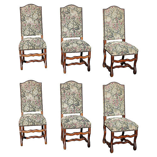 Louis XIII Style Dining Chair, S/6