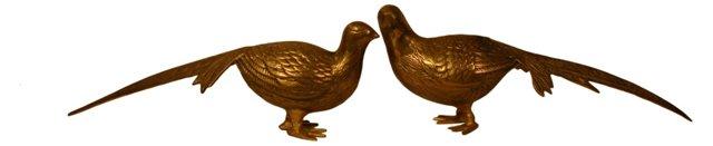 Brass Pheasants, Pair