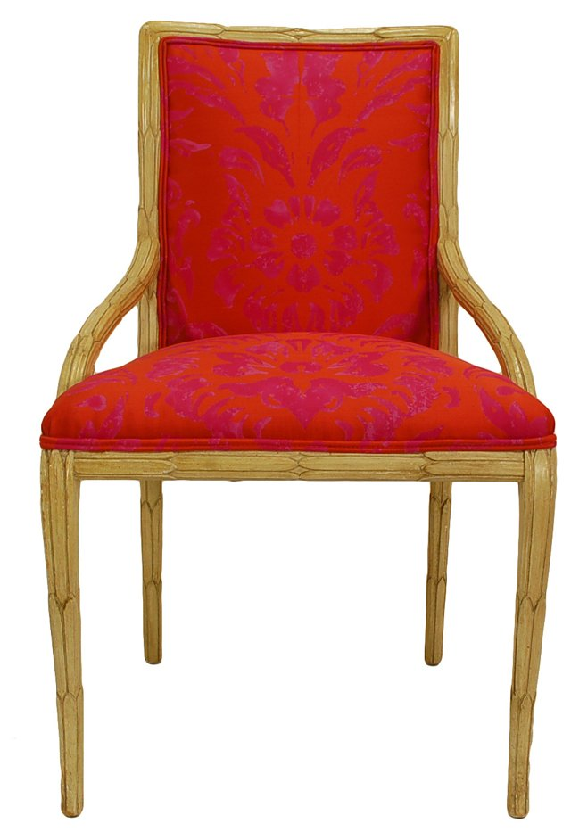 Upholstered Foliate Palm Side Chair