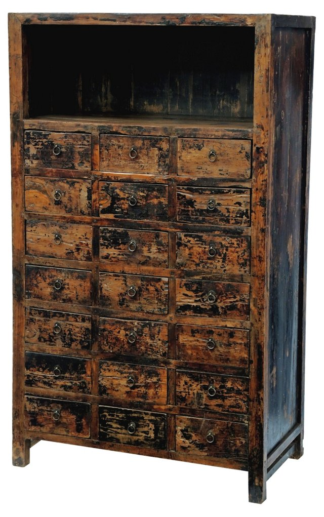 19th-C. Chinese Apothecary Cabinet