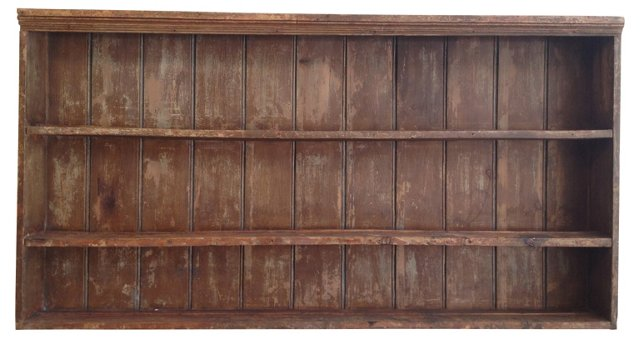 Rustic Pine Hanging Shelf